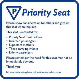 Southeastern launch a Priority Seating Card